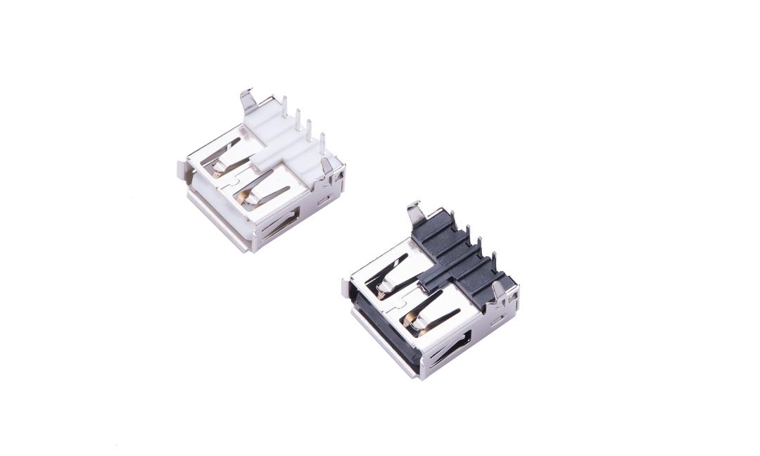 FUS202 USB A型 4触点 90°插件 母座