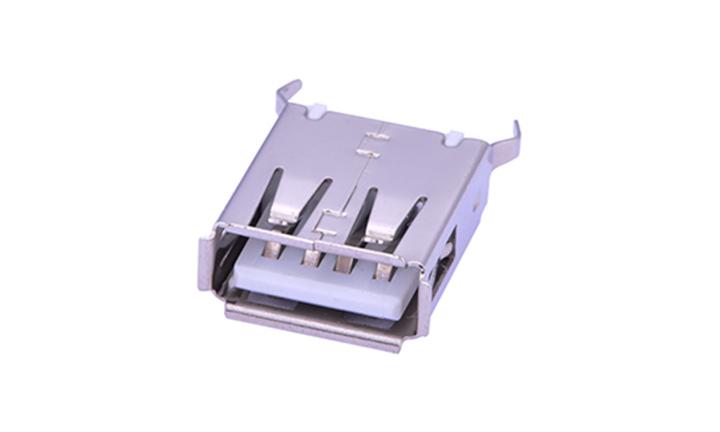 FUS205 USB A型 4触点 180°插件 母座