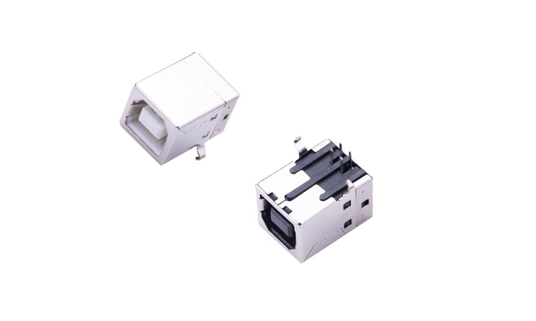 FUS213 USB B型 4触点 90°插件 母座