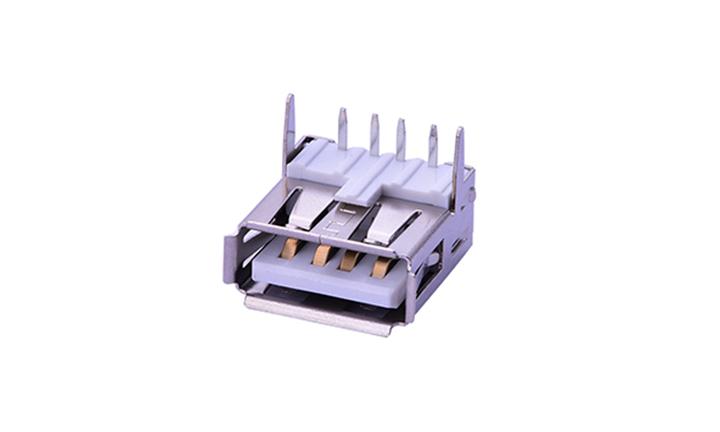 FUS230 USB2.0 A/Type 母座  4Pin 90°插件
