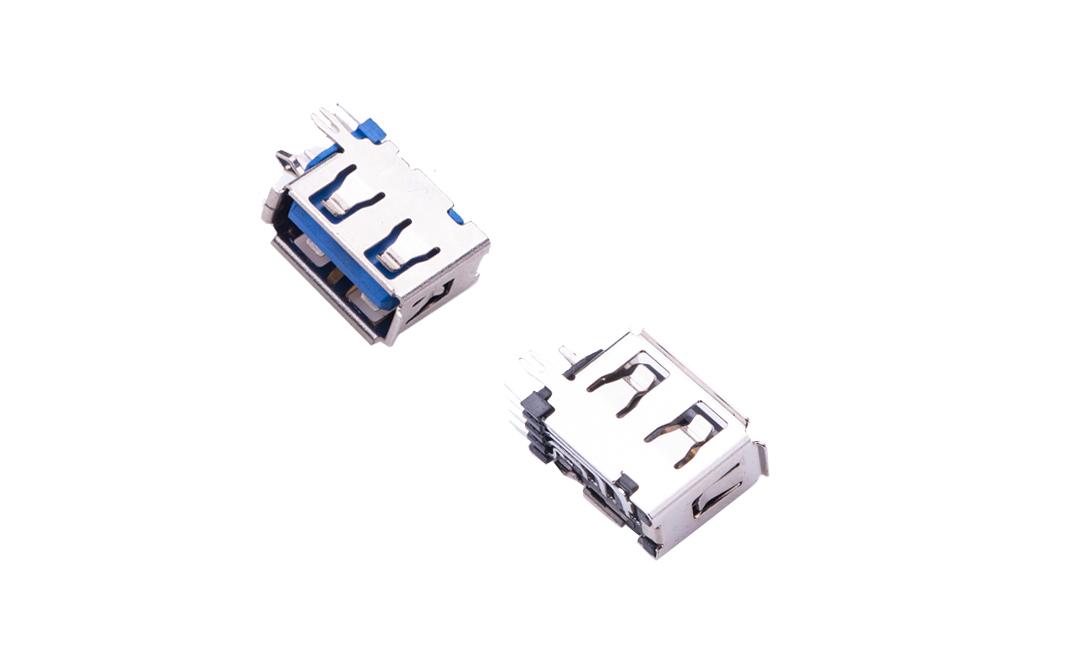 FUS242 USB A型 4触点 90°插件