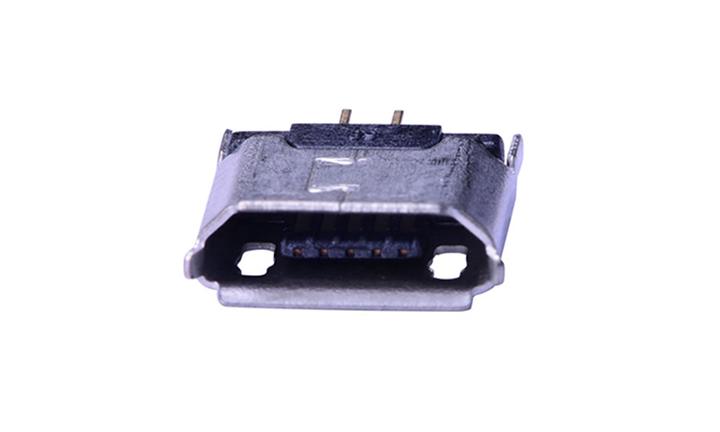 FUS423 Micro USB B Type 5触点 母座 插板 带卷边