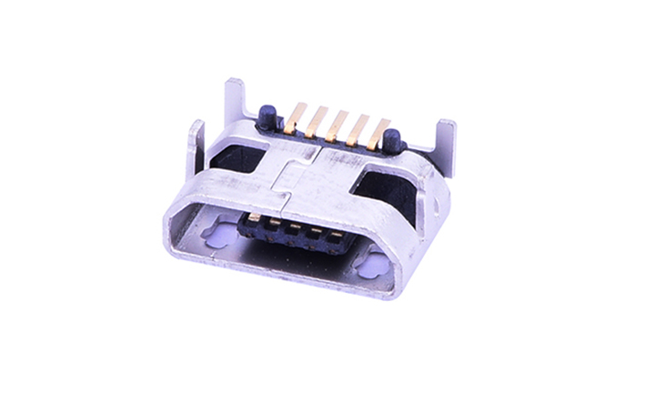 FUS428 Micro USB 卧贴 5触点 母座