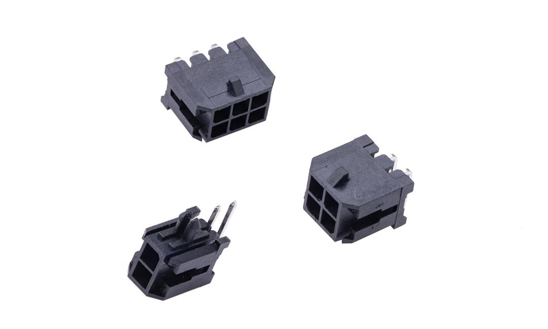 FWF30002 板装插座 3mm  90°插件(带定位柱)