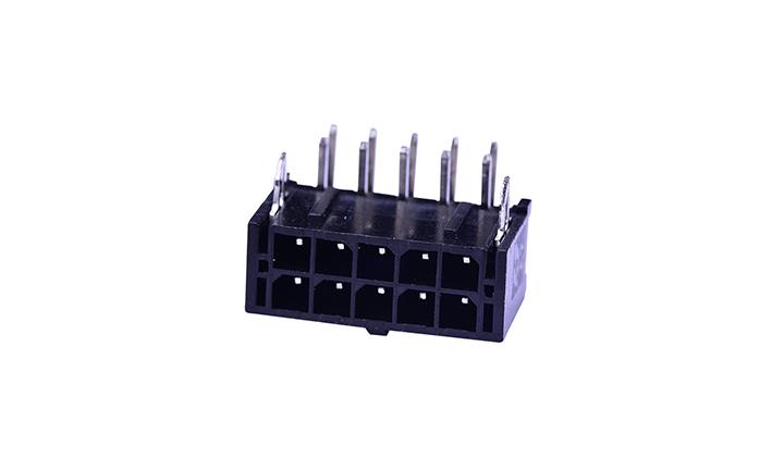FWF30003 板装插座 3mm 90° 插件(带鱼叉)