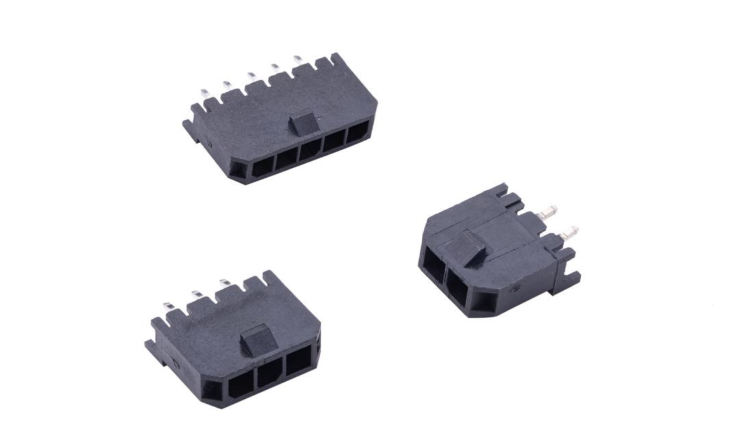 FWF30004 板装插座 3mm 180°插件